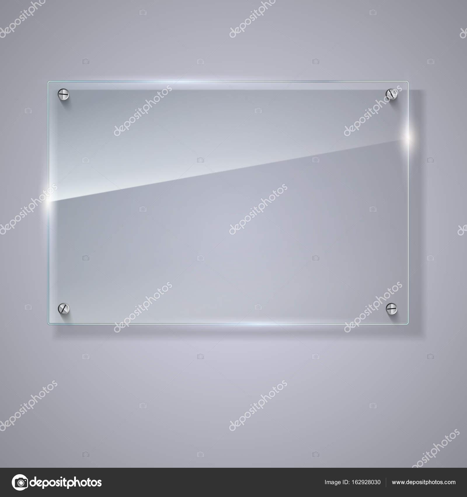 Vector leeg transparant glazen plaat vector sjabloon for Glazen plaat