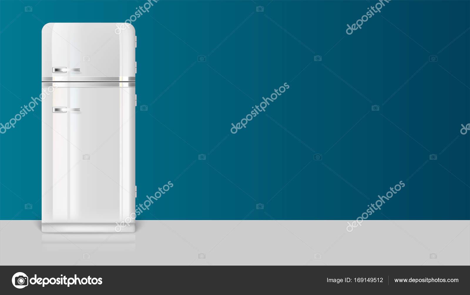 Kühlschrank Vintage : Vorlage mit retro oldtimer kühlschrank für werbung auf horizontale