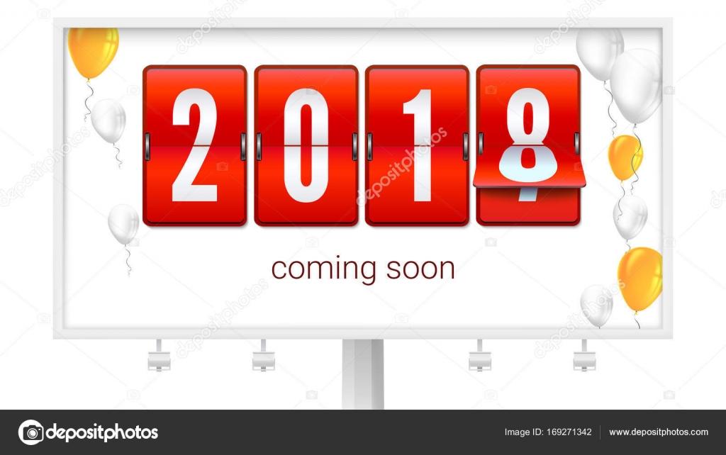 nyår gratulationer Kommer snart nyår 2018. Gratulationer affisch på Billboard  nyår gratulationer