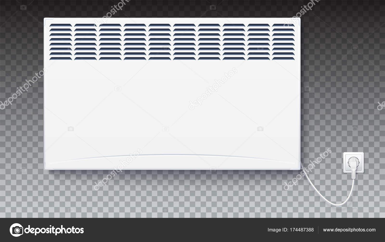 inl ndische elektrische heizung ikone der heimat konvektor angeschlossen das kabel mit stecker. Black Bedroom Furniture Sets. Home Design Ideas