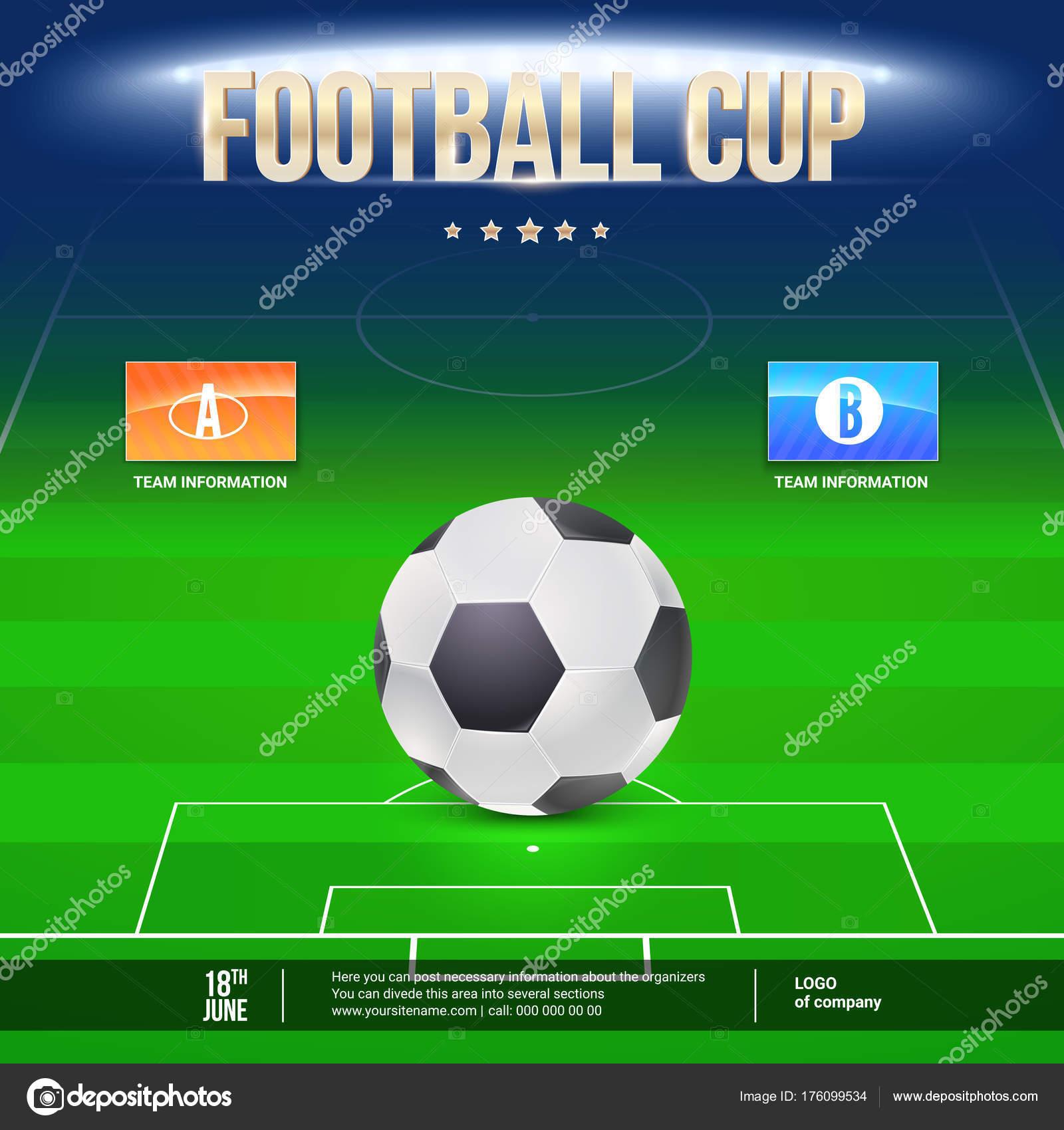 Fussball Event Flyer Vorlage Platzieren Sie Ihre Text Und