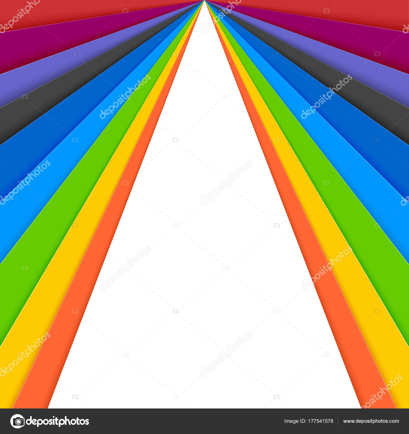 Sheets of colored paper, idea for banner. Layered colorful paper ...