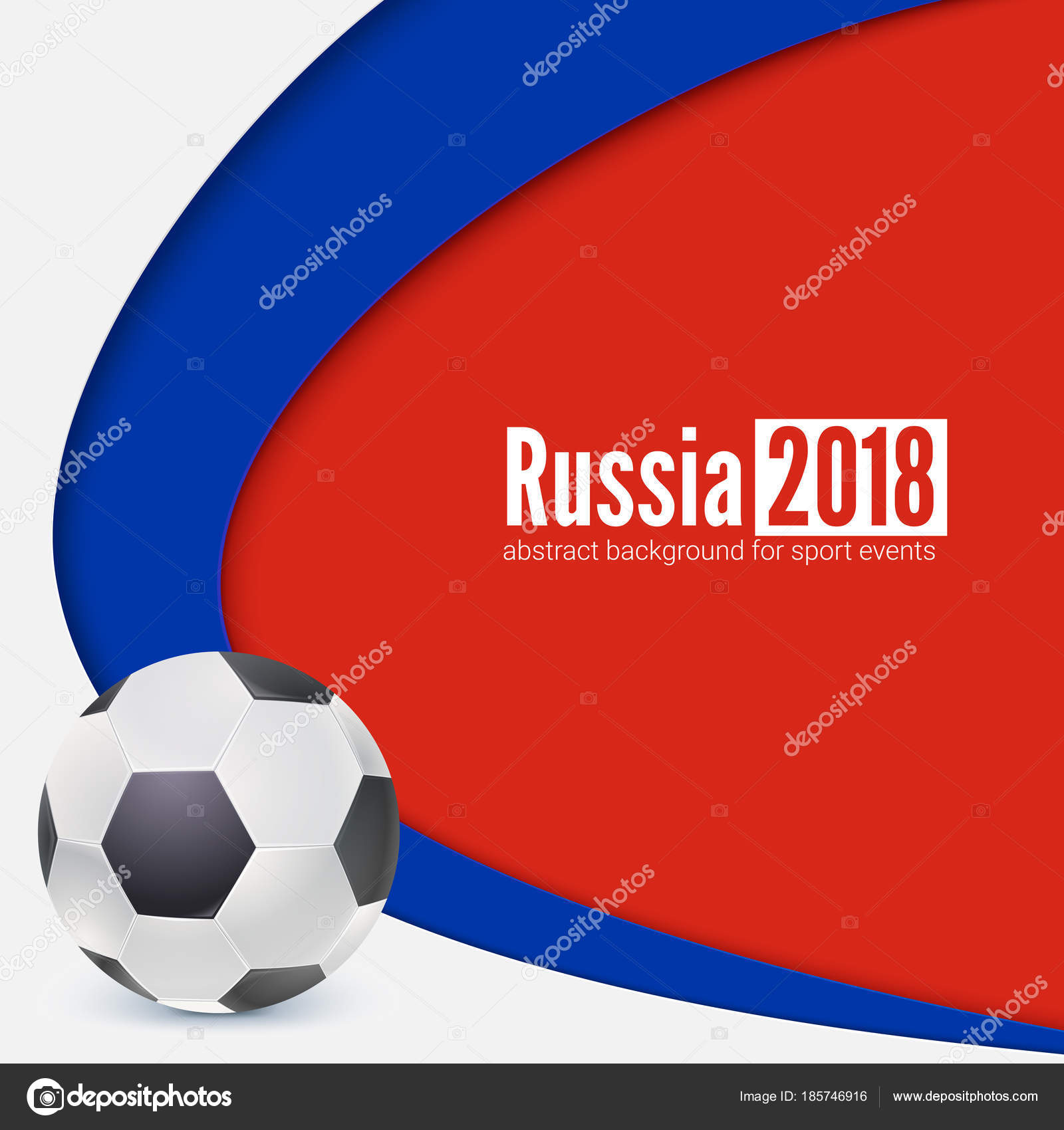 Hintergrund der Fußball- oder Fußball Weltmeisterschaft WM 2018 ...