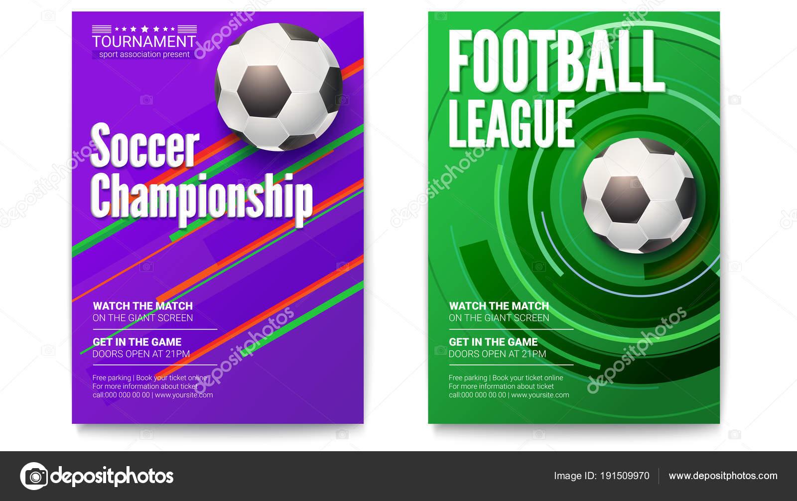 Plakaty Z Turnieju Ligi Piłki Nożnej Piłka Nożna Piłka Na
