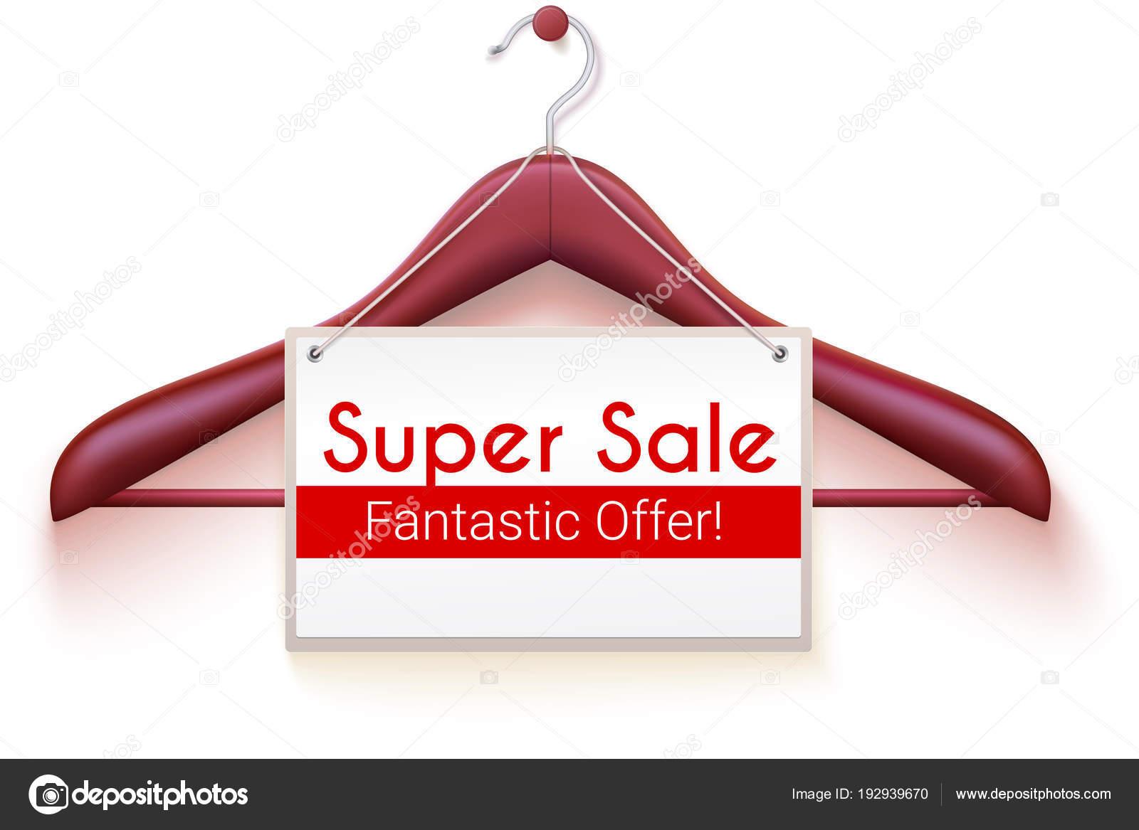 Super Sale, Poster mit Text-Design. Tag hängen Aufhänger für ...