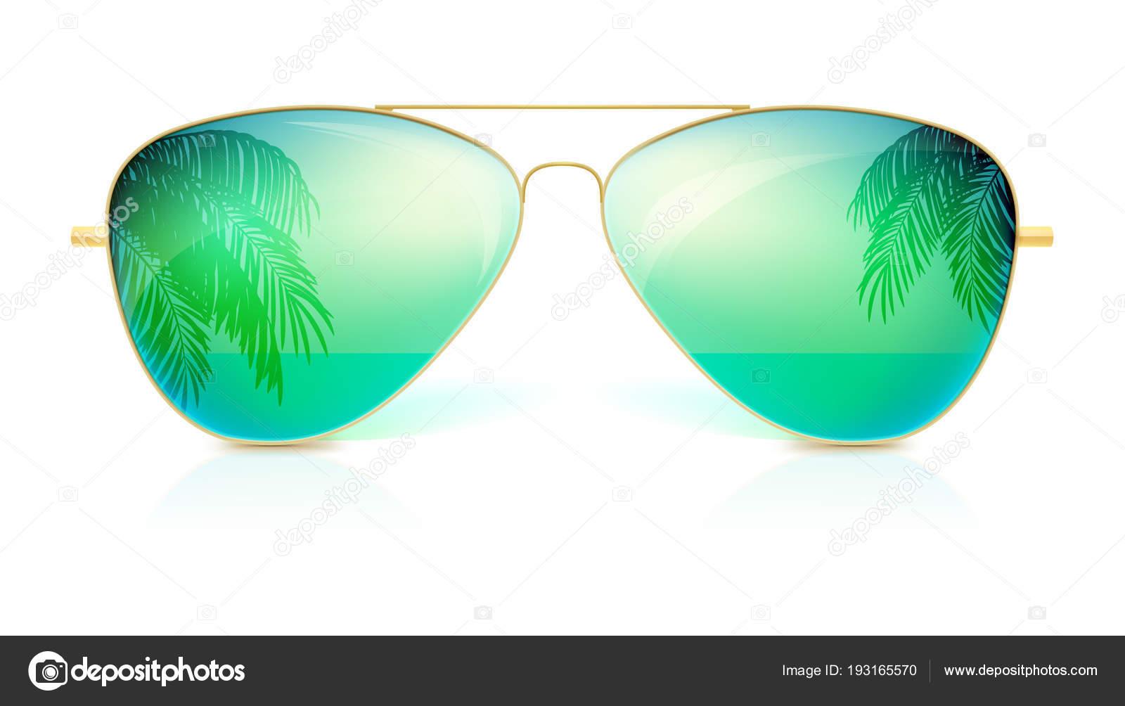Realista las gafas de sol, forma clásica en el marco de oro fino ...