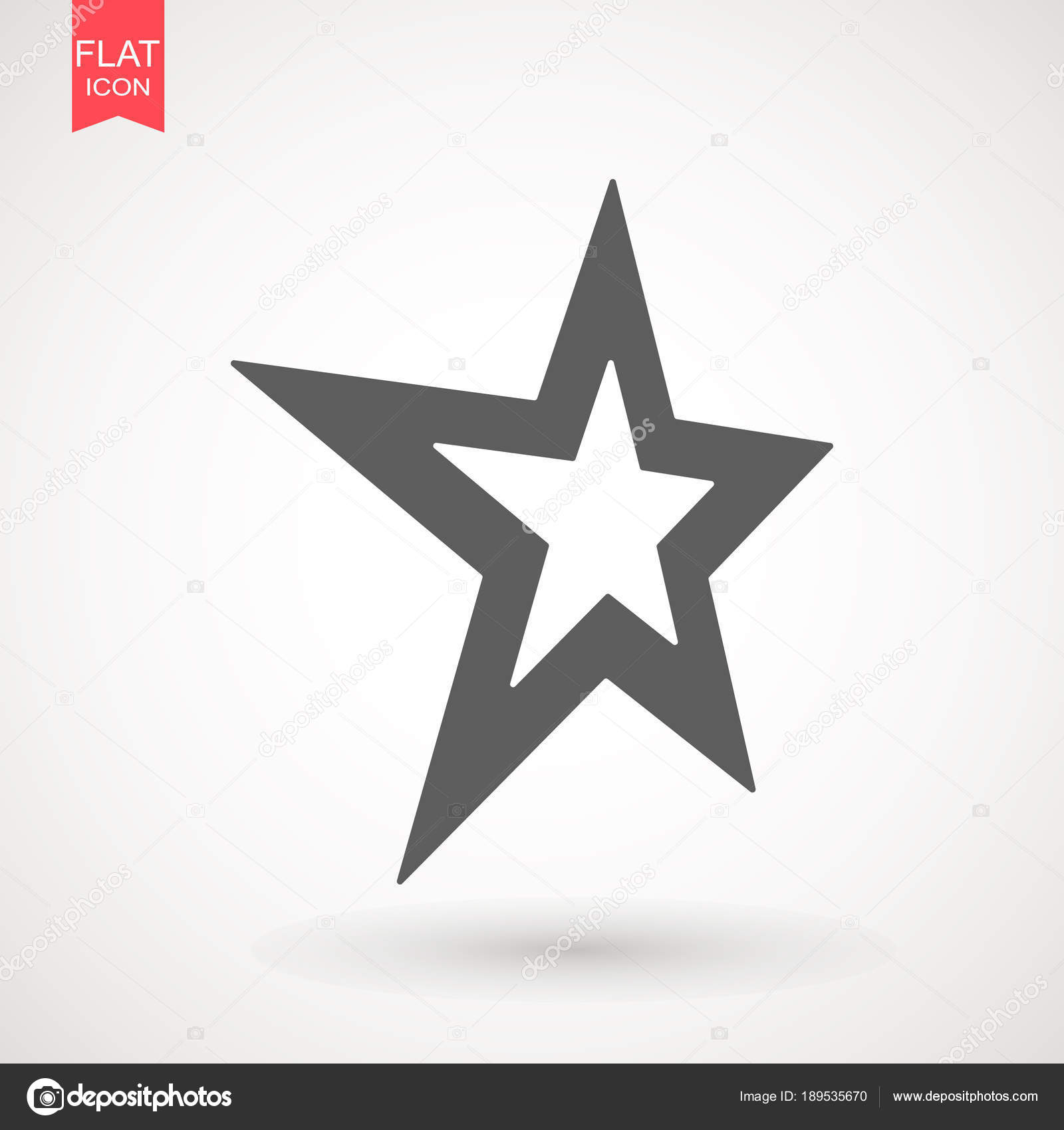 Star Logo Vector Black Favorite Web Symbol Star Icon Vector