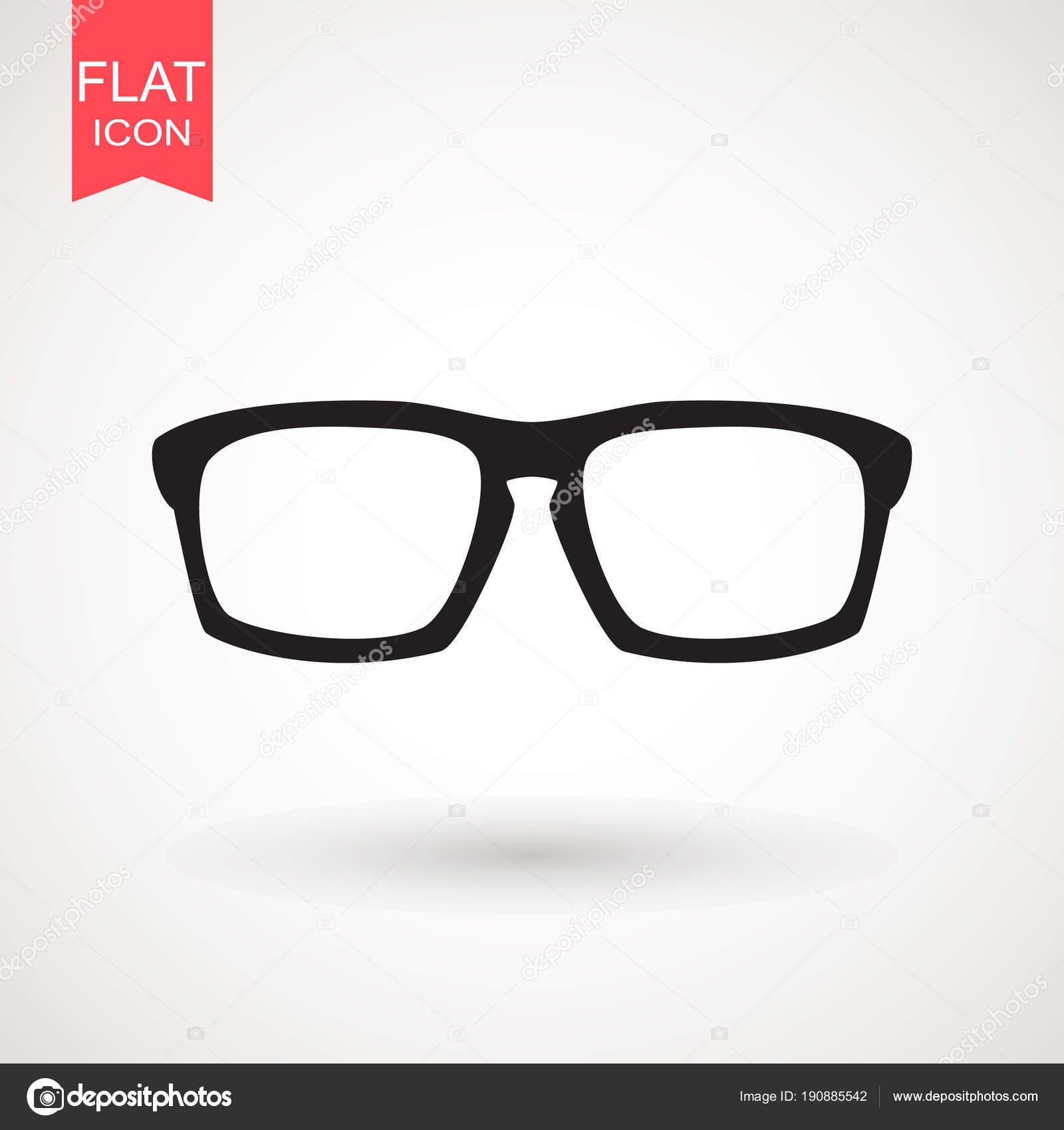 Estilo De Gafas Sobre Fondo Plano Aislado Moda Sol Icono DYEIH9eW2