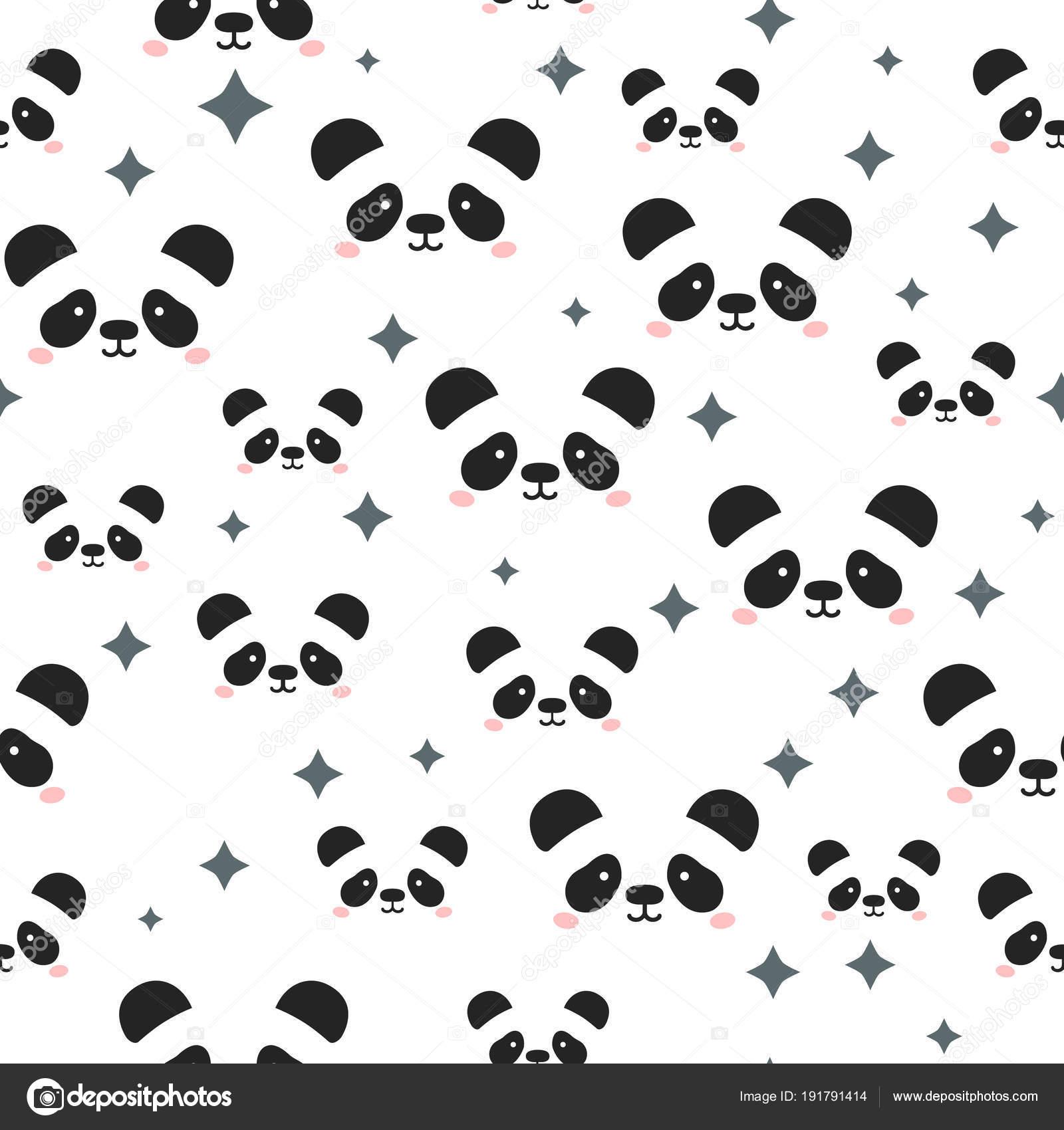 imágenes caras de pandas animados cara de panda lindo fondo de