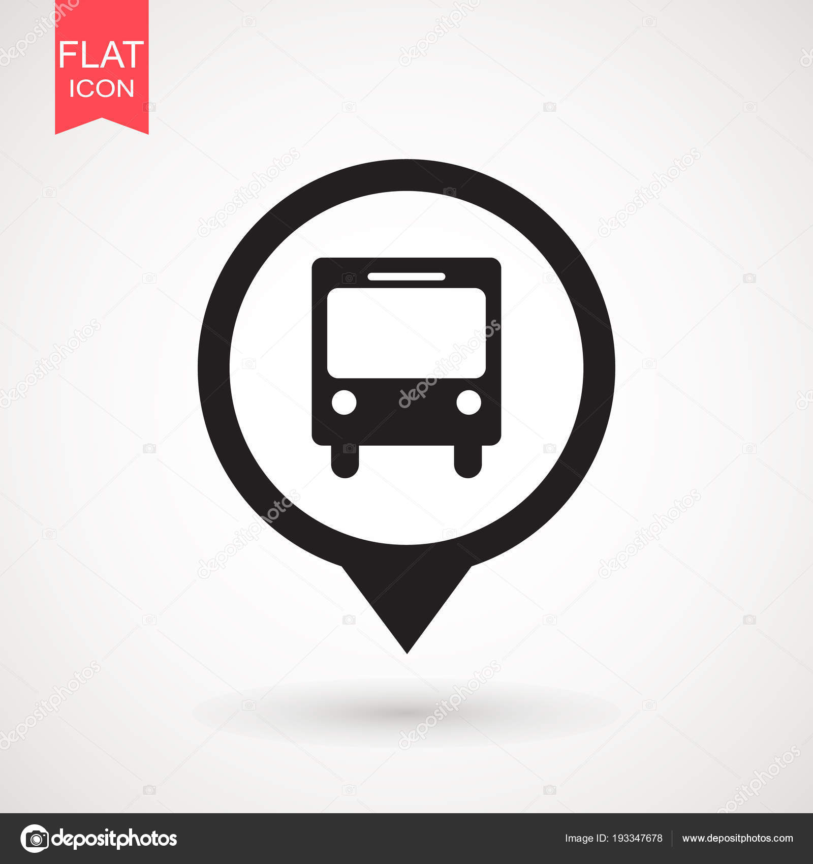 bus icon vector solid logo illustration pictogram isolated on