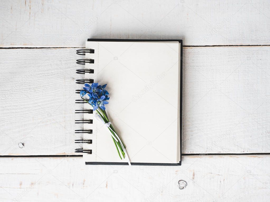 Empty note pad for congratulations