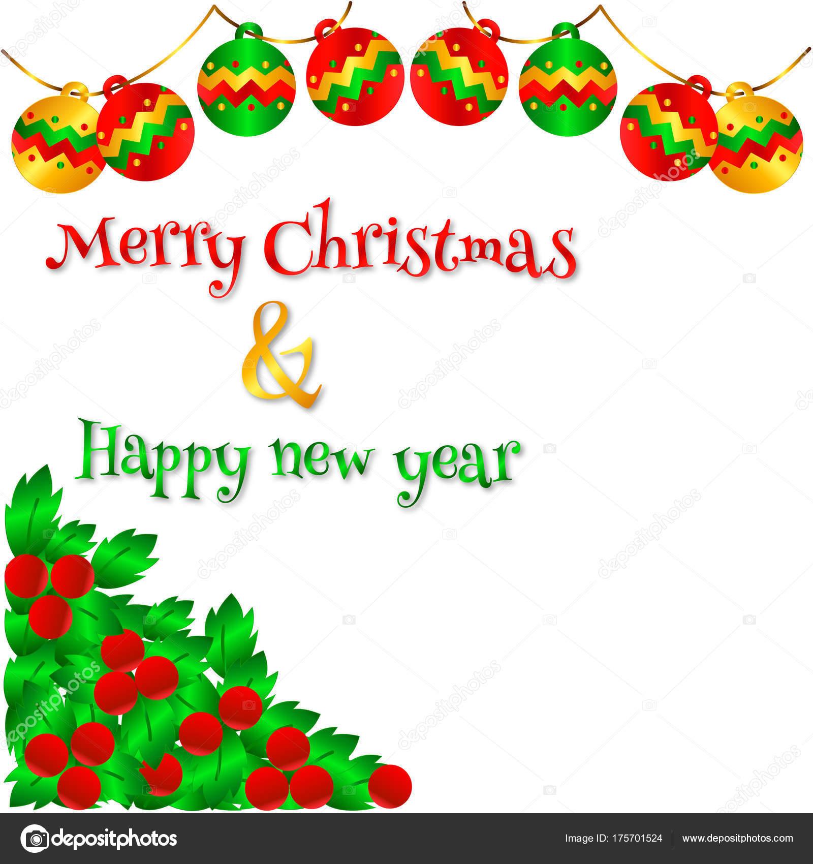 Vector Lovely Christmas Card Send Your Friend Family Lover Stock