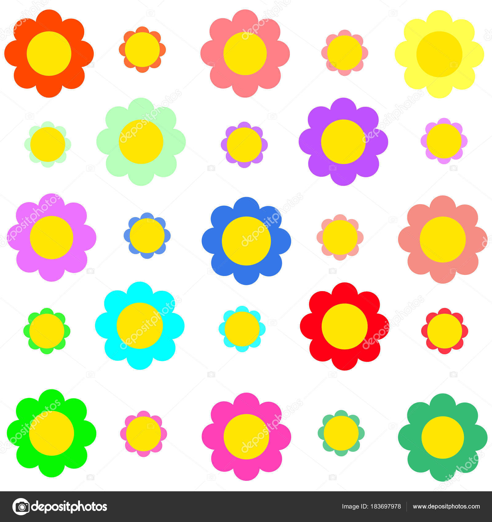 Vector colorful many sizes pretty flower transparent background vector colorful many sizes pretty flower transparent background stock vector mightylinksfo