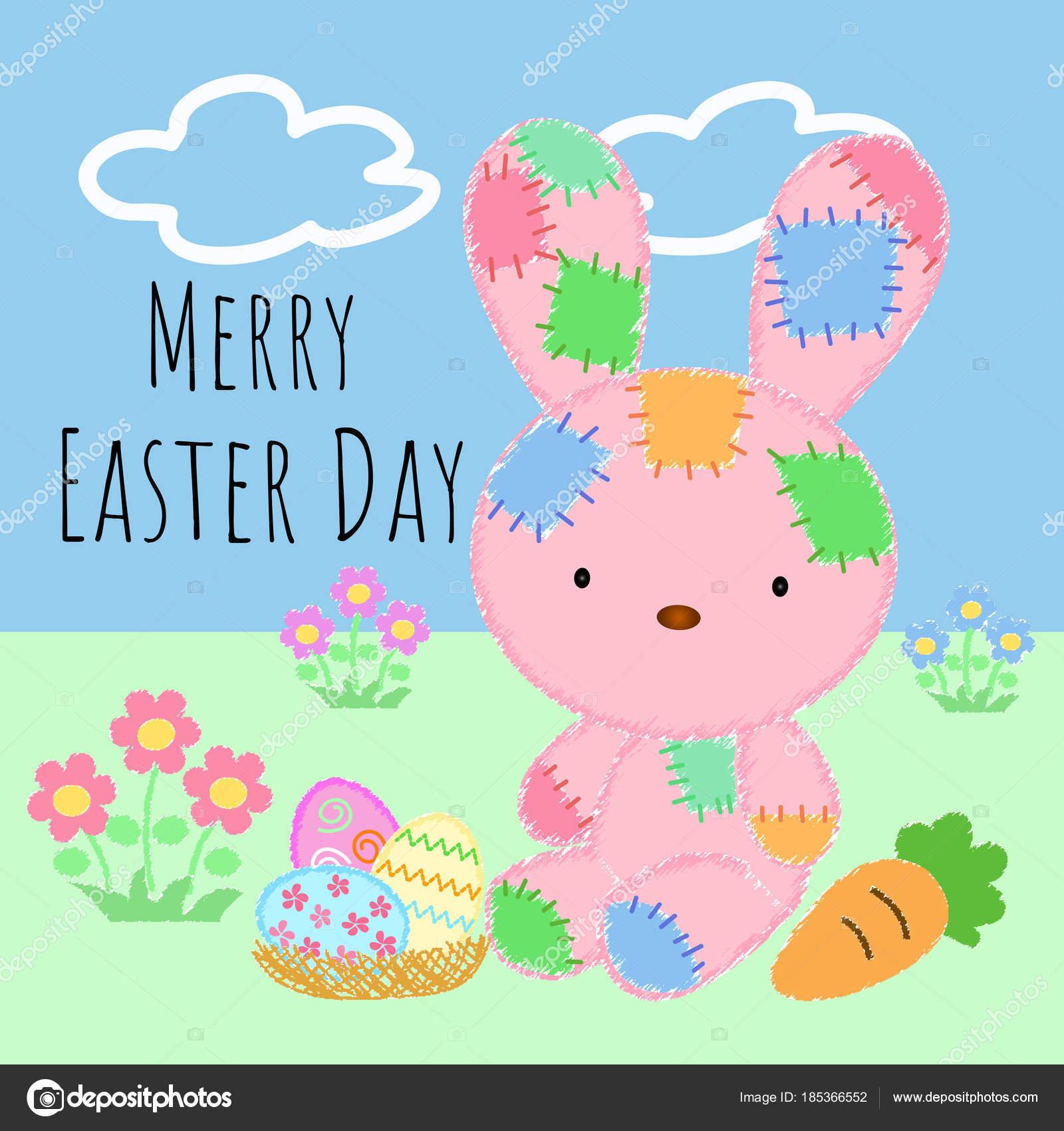 Imágenes Hermoso Dia Hermoso Día Pascua Con Conejo Bonito