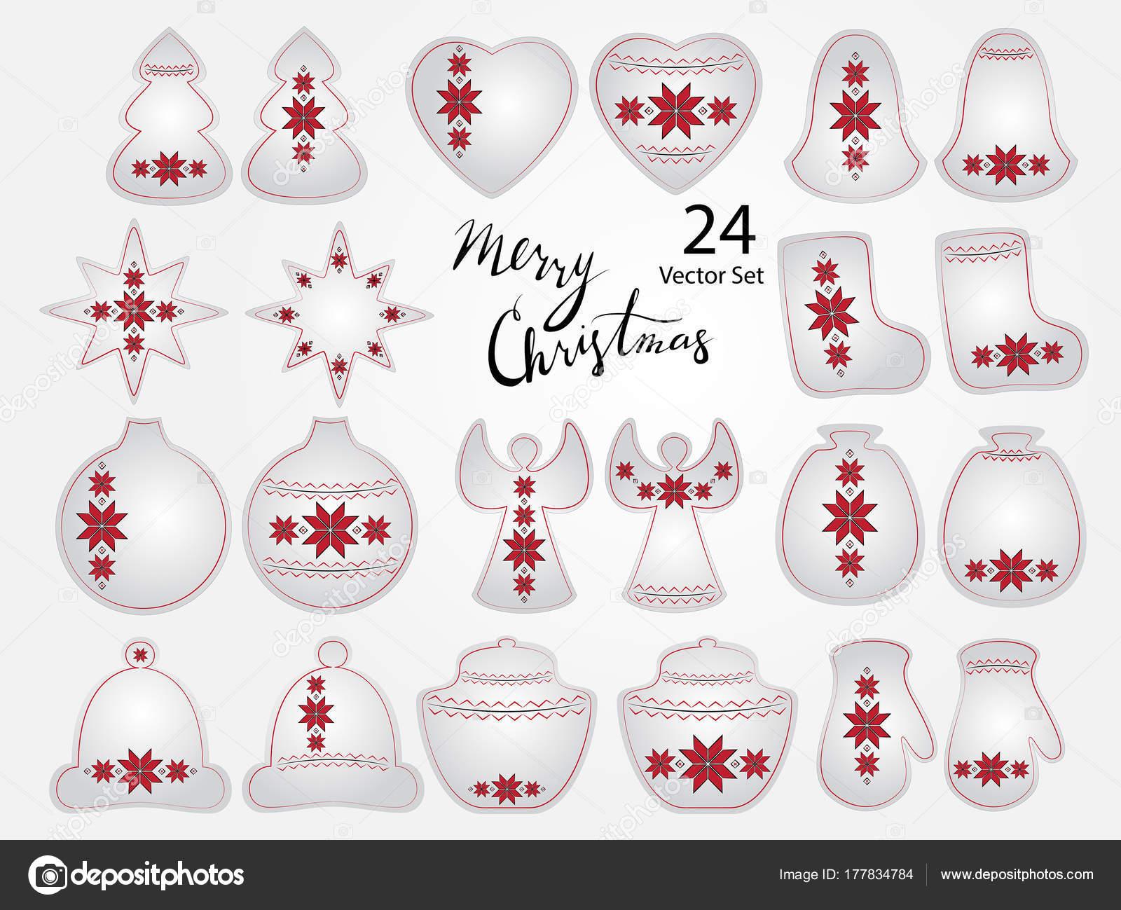 Elementos de la Navidad con bordado ucraniano — Archivo Imágenes ...