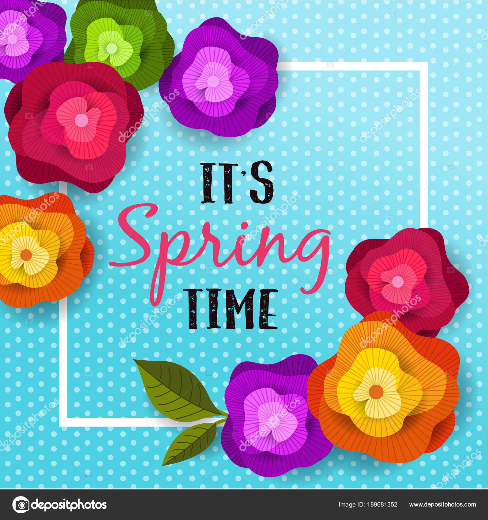 spring banner with paper flowers for wallpaper flyer magazine online advertising actions