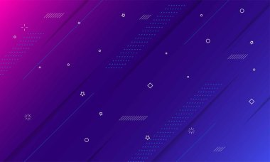 Colorful geometric background. Dynamic shapes composition
