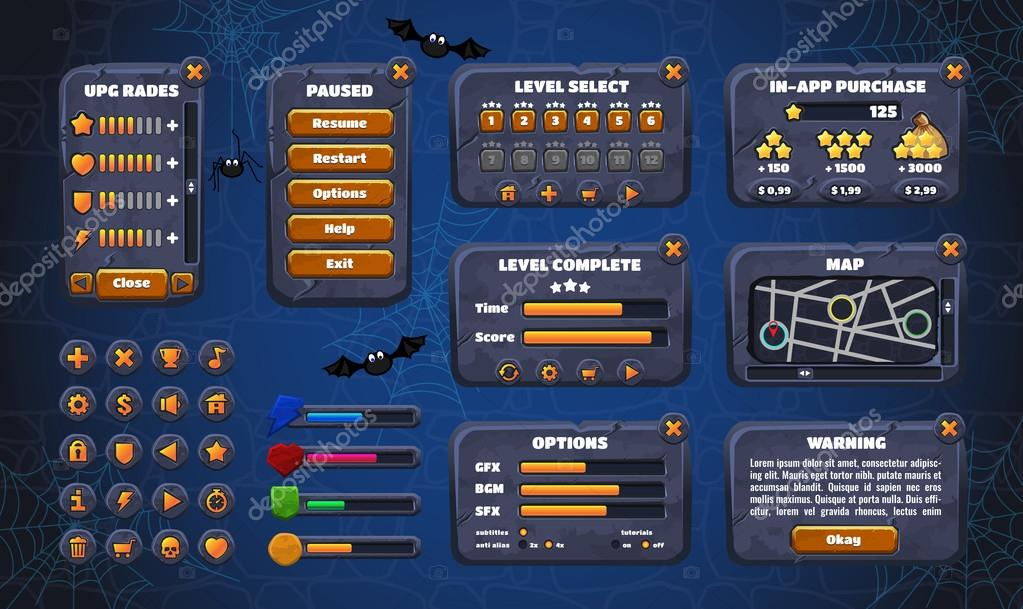 Game Design Graphical User Interface