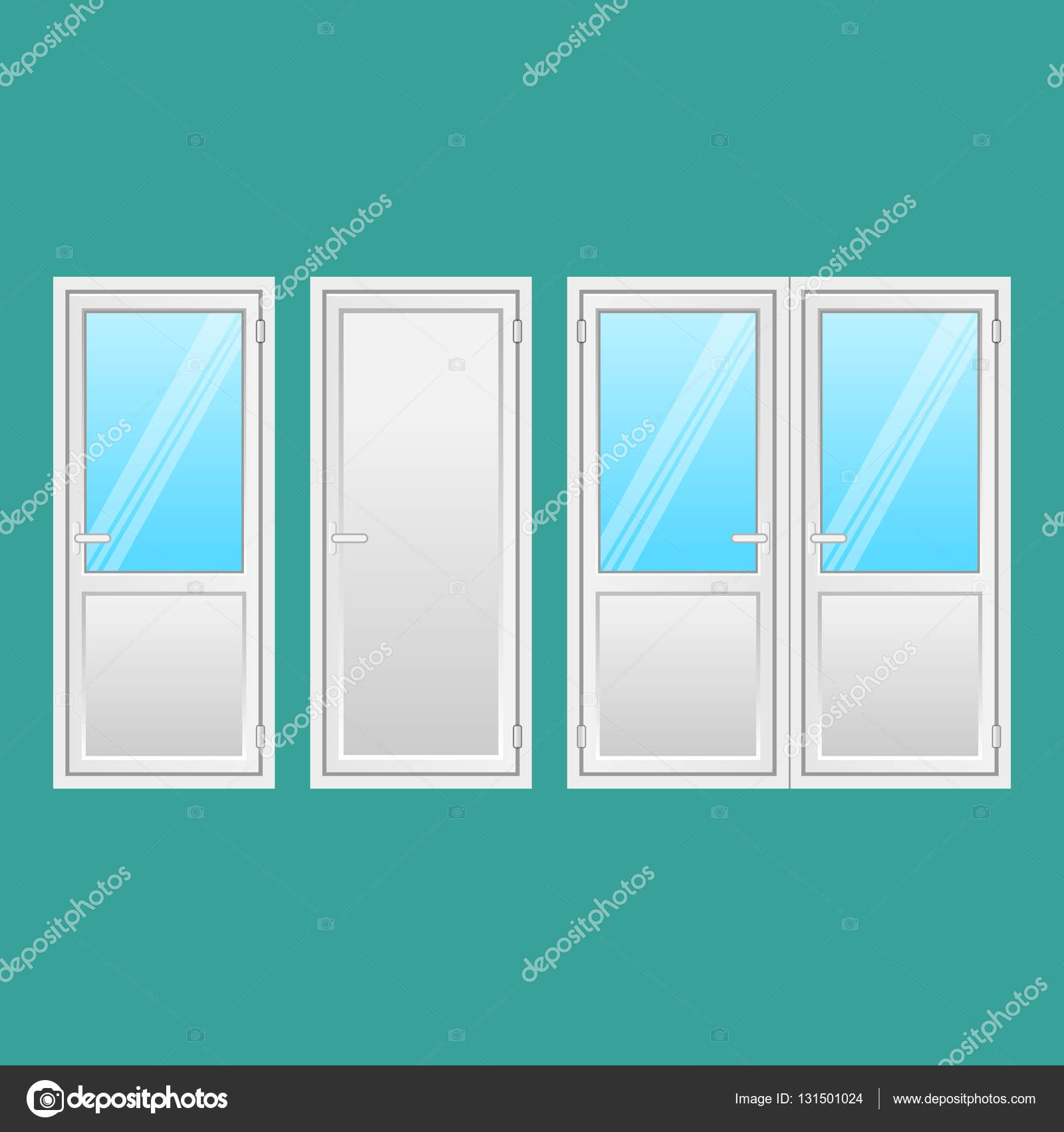 Conjunto de puertas de aluminio. Interior, puerta comunicante ...