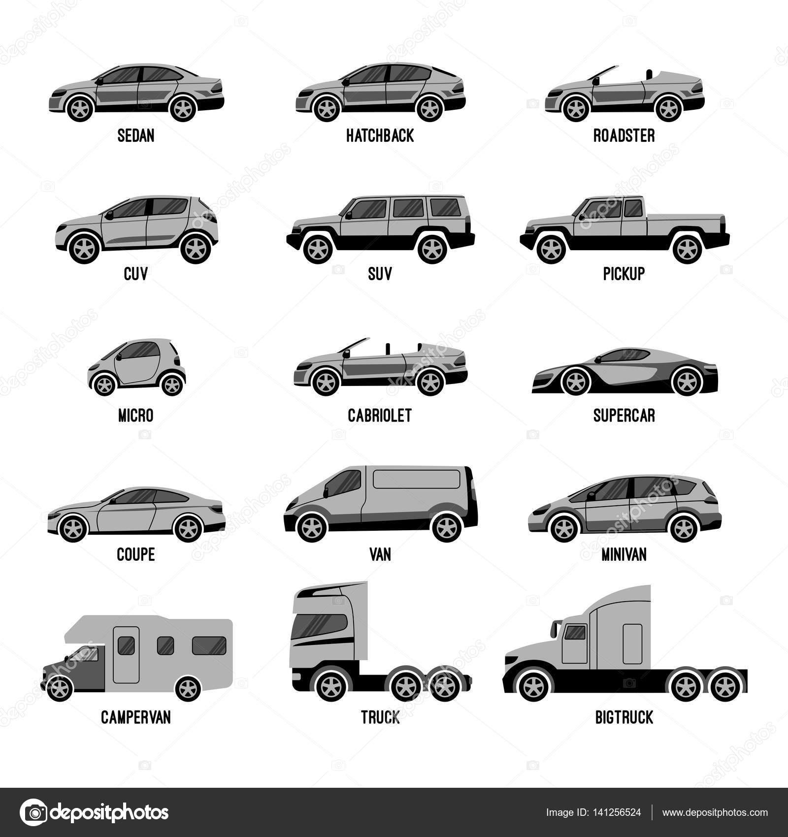 Automobile La Valeur Isolee Modeles De Voitures De Differentes