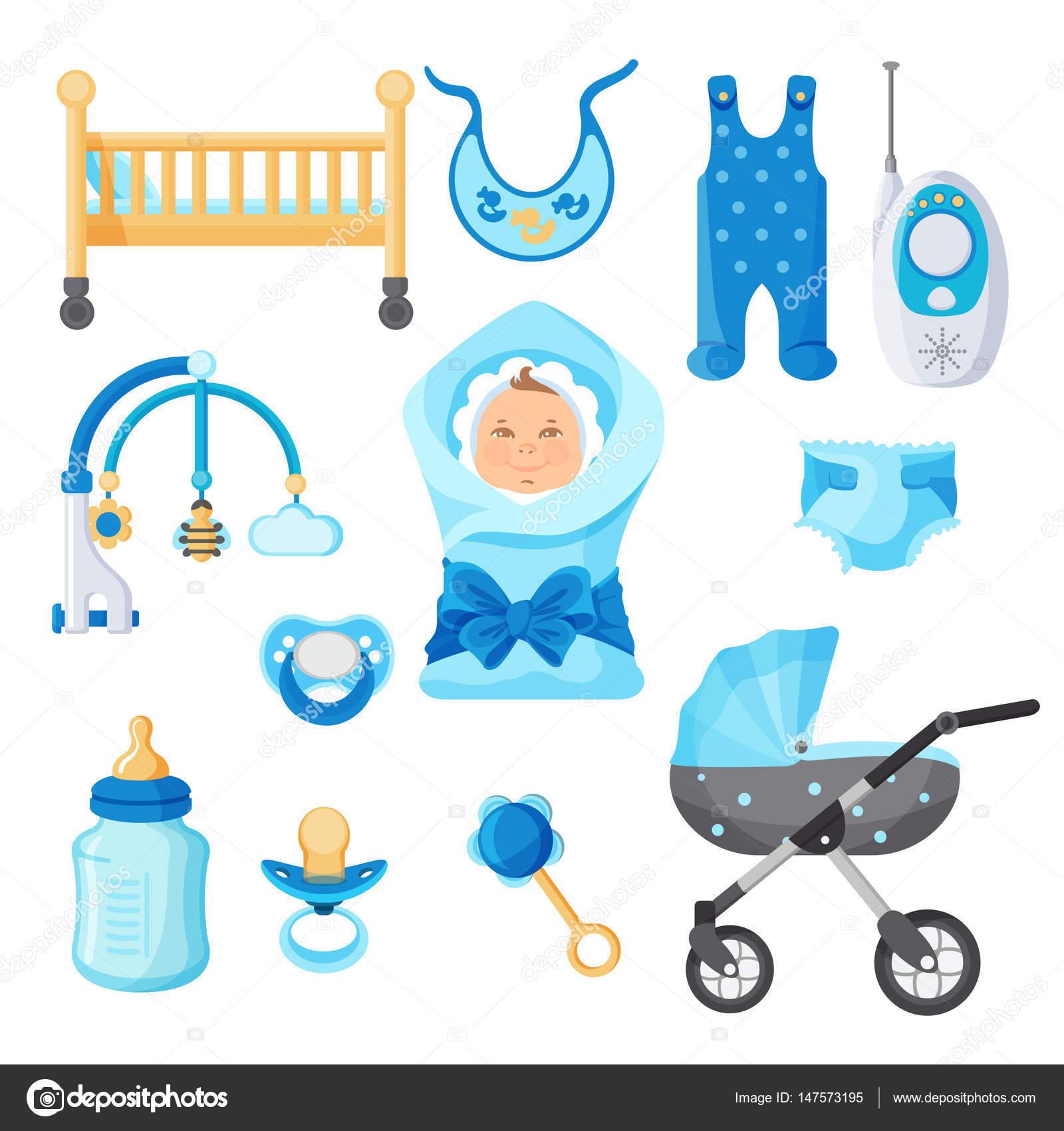 Elementos de diseño de niño bebé vector colección en blanco — Archivo  Imágenes Vectoriales 57b577bcdefc