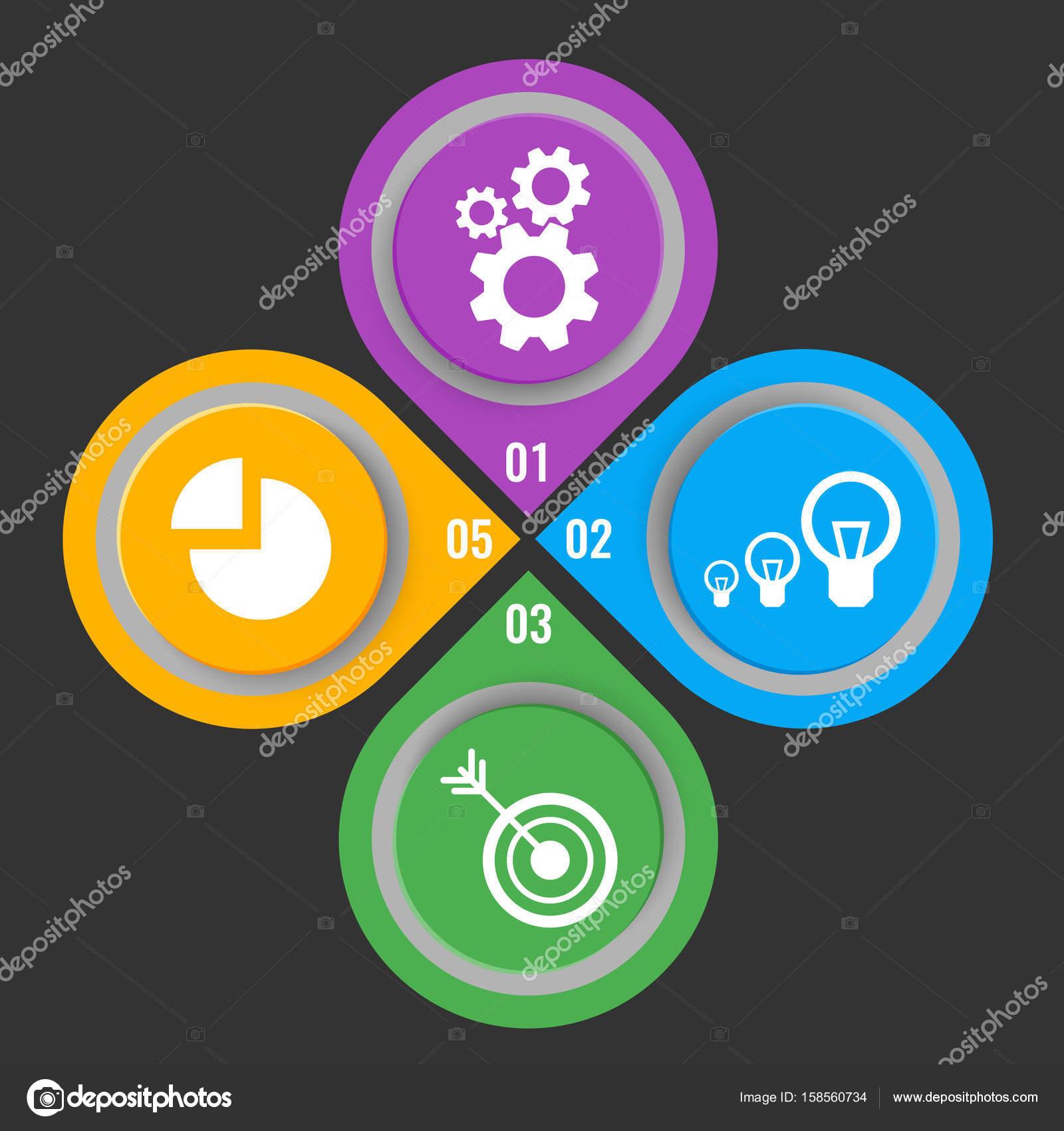 Reihe von Icons auf Schaltflächen mit mechanischen Getriebe ...