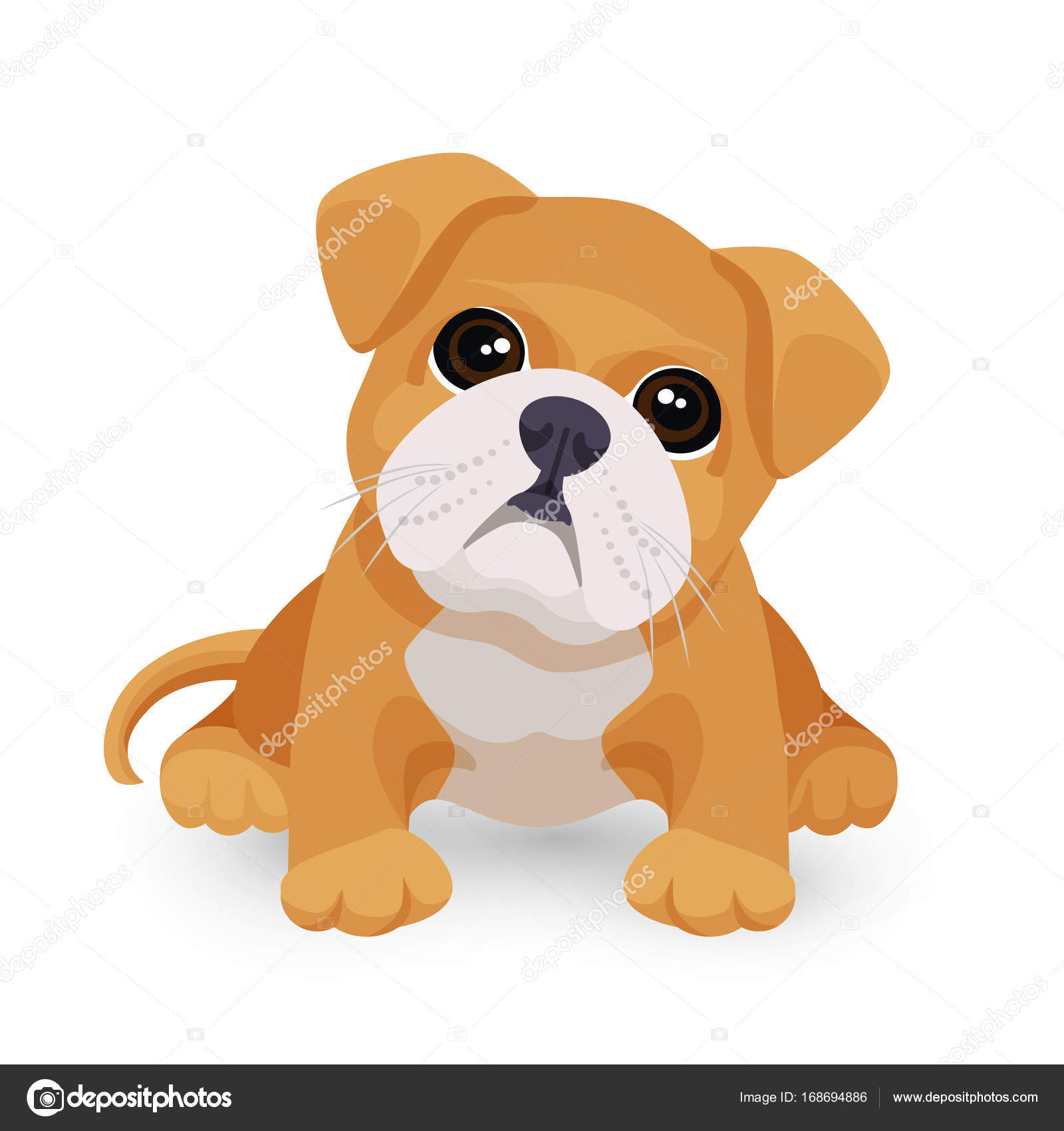 Puppy Desktop Wallpaper Bulldog Puppy Cute Toy In White And Beige Color Vector Stock Vector C Godruma 168694886