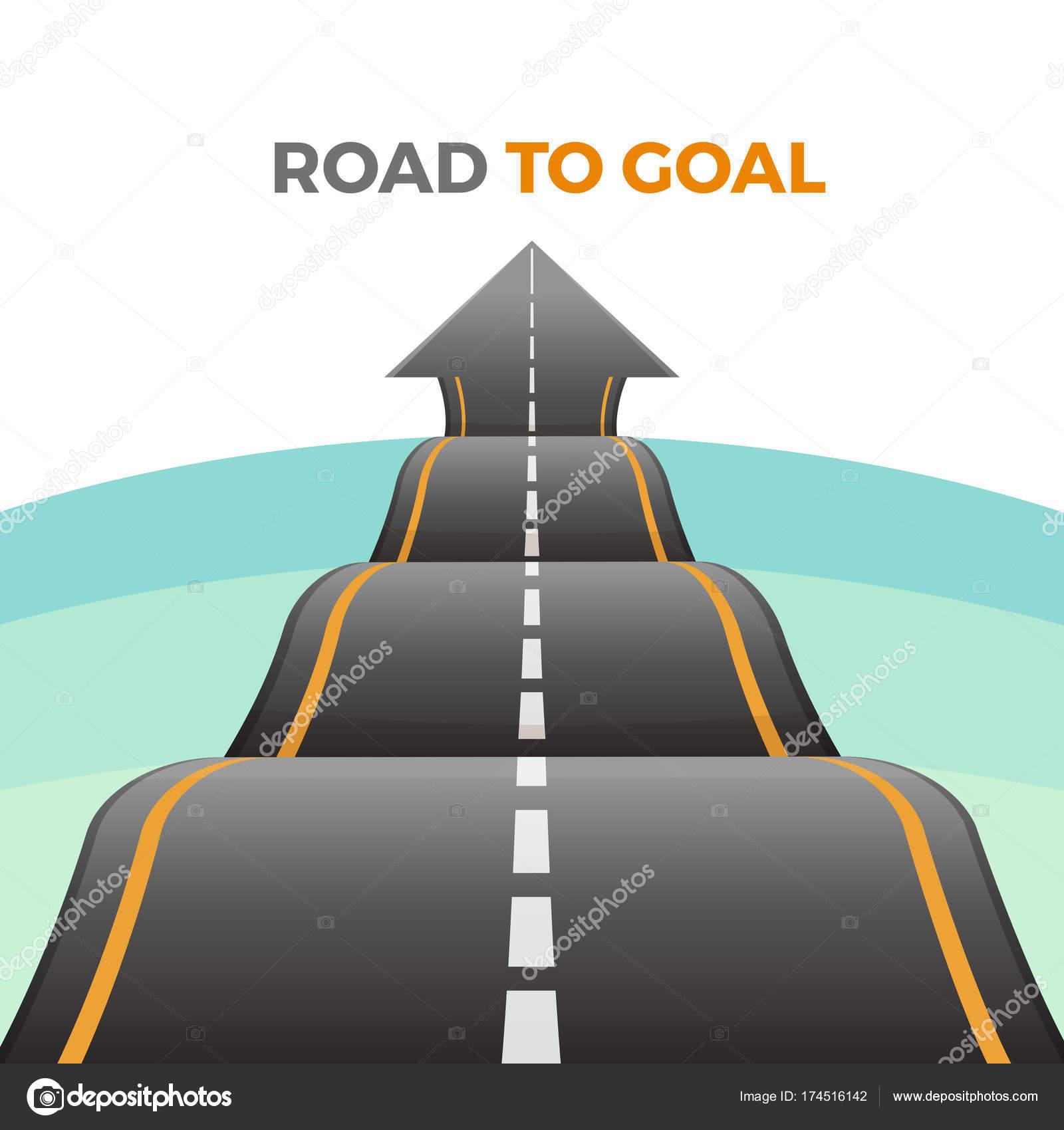 Camino a manera de Resumen objetivo de asfalto con la marca vector ...