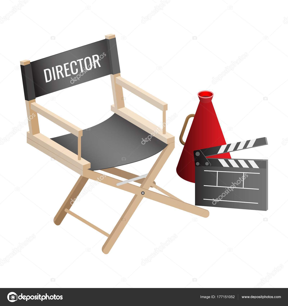 Directeur de chaise vide, clap de cinéma et les attributs de ...