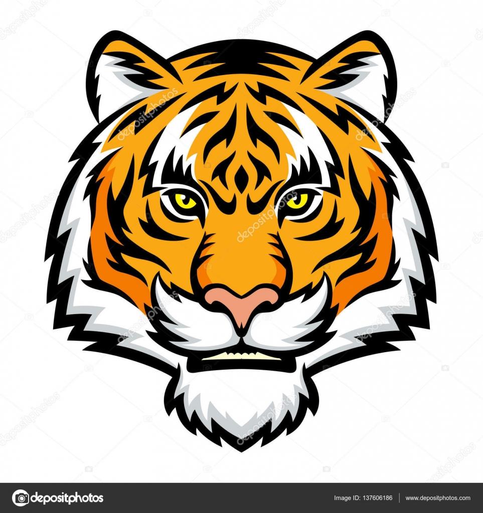 tiger head logo stock vector komissar008 137606186 rh depositphotos com mizzou tiger head logo mizzou tiger head logo