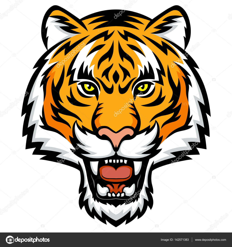 tiger head logo stock vector komissar008 142571383 rh depositphotos com tiger head logo png tiger head logo png