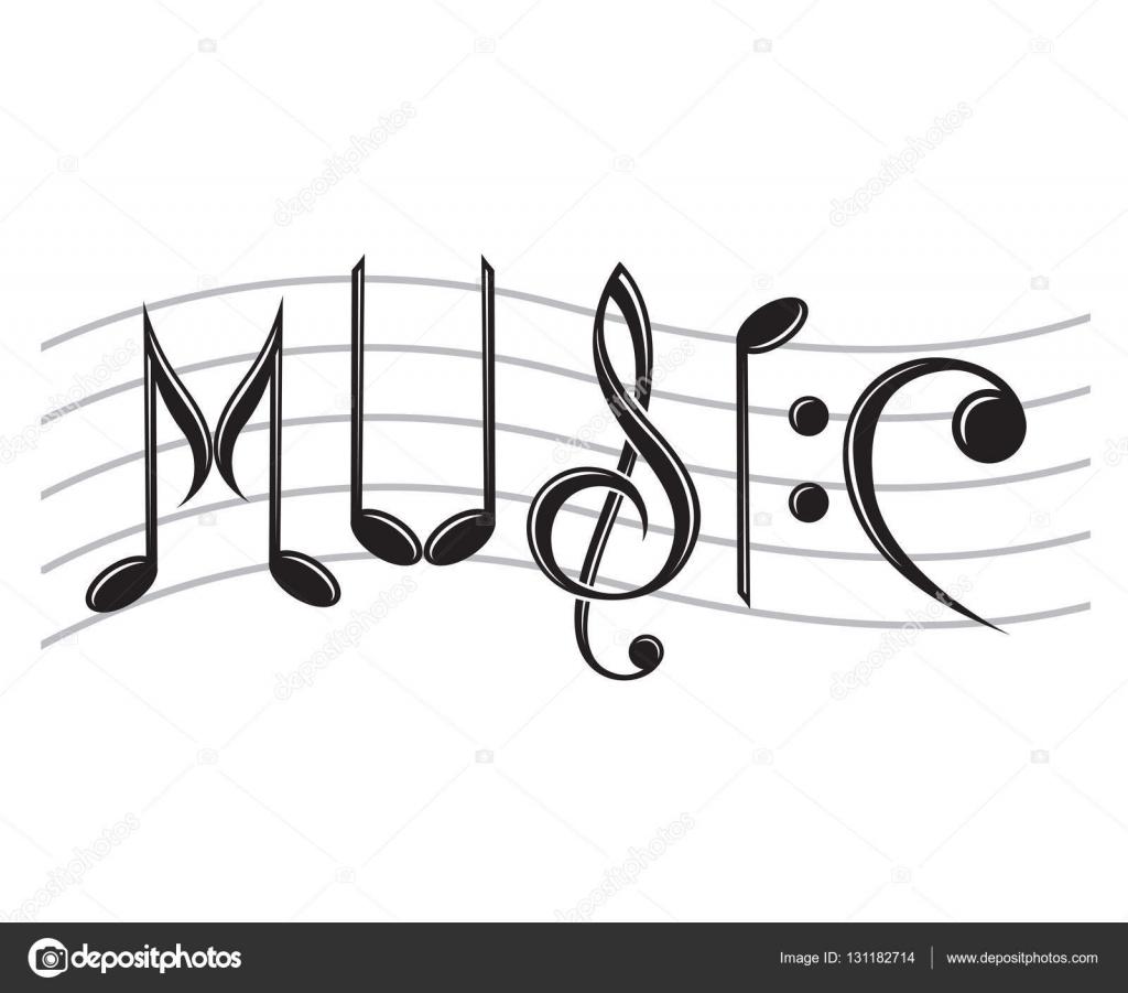 word music as notes stock vector alexkava 131182714