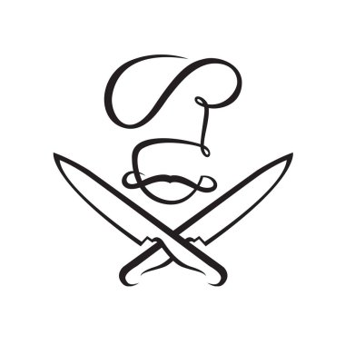 crossed knives and chef