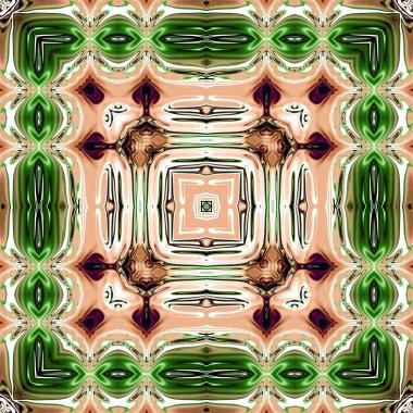 Unique mandala, Oriental round pattern, Mystical motif, Abstract exotic background. Fantastic fractal design, Colorful digital art, shining geometric texture