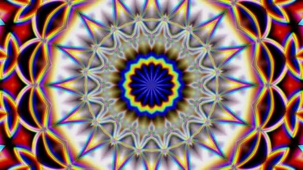 Unikátní mandala vykreslování, abstraktní exotické animace, fantastický fractal design, barevné digitální umění, 3d geometrické
