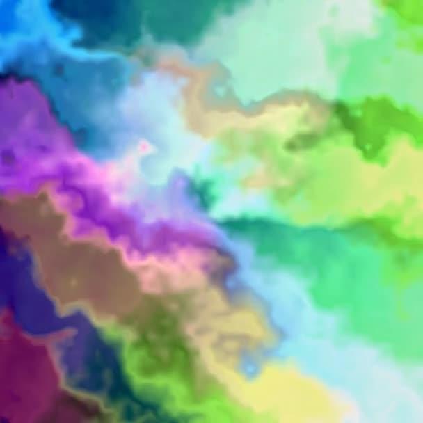 Jedinečný vykreslování, abstraktní animace, fantastický design, barevné digitální umění, geometrické
