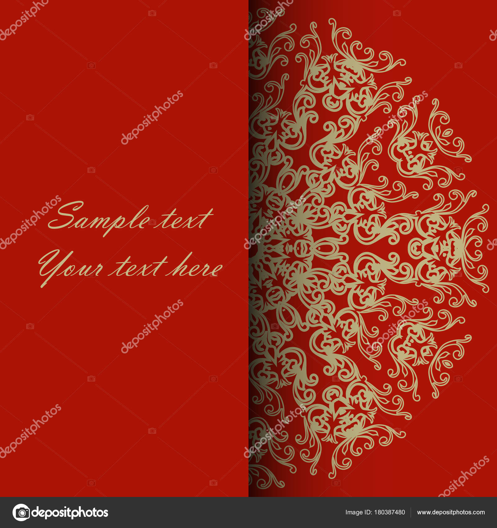 Invitation card for the wedding, anniversary, birthday and other ...