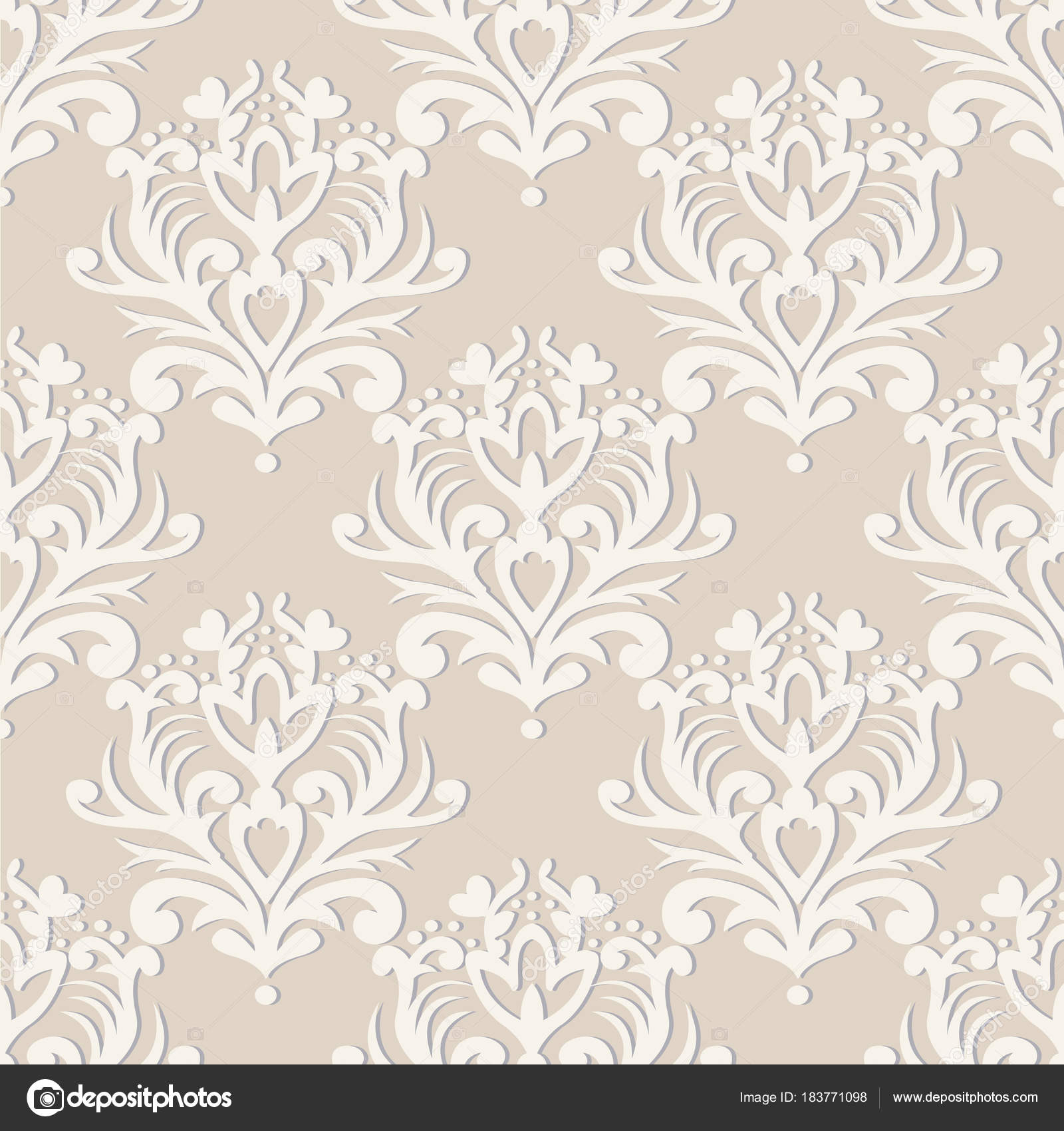 Vector seamless floral damask pattern rich ornament old damascus rich ornament old damascus style royal victorian seamless pattern for wallpapers textile wrapping wedding invitation vector by majick2mail stopboris Choice Image