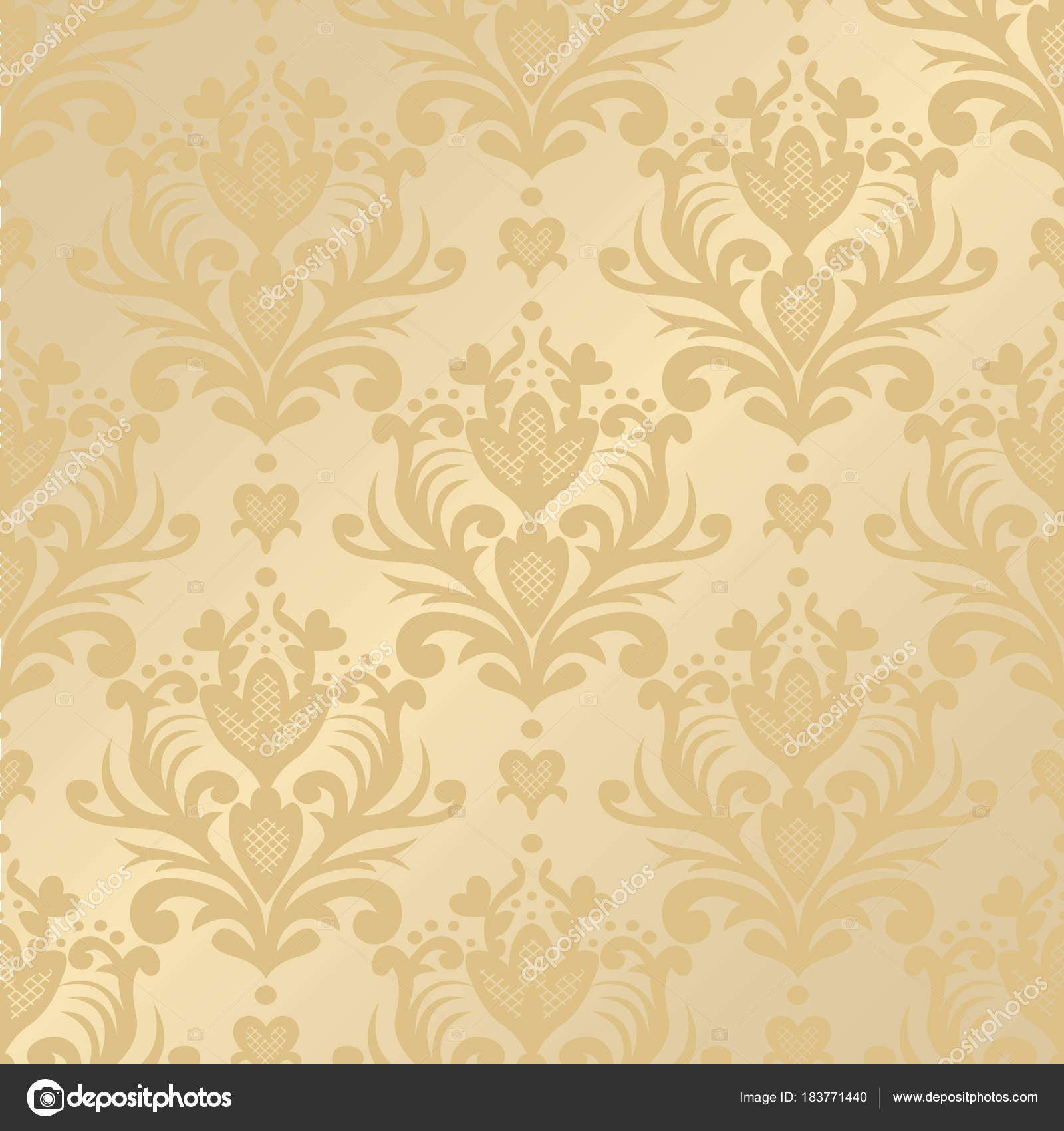 Vector Seamless Floral Damask Pattern Rich Ornament Old Damascus