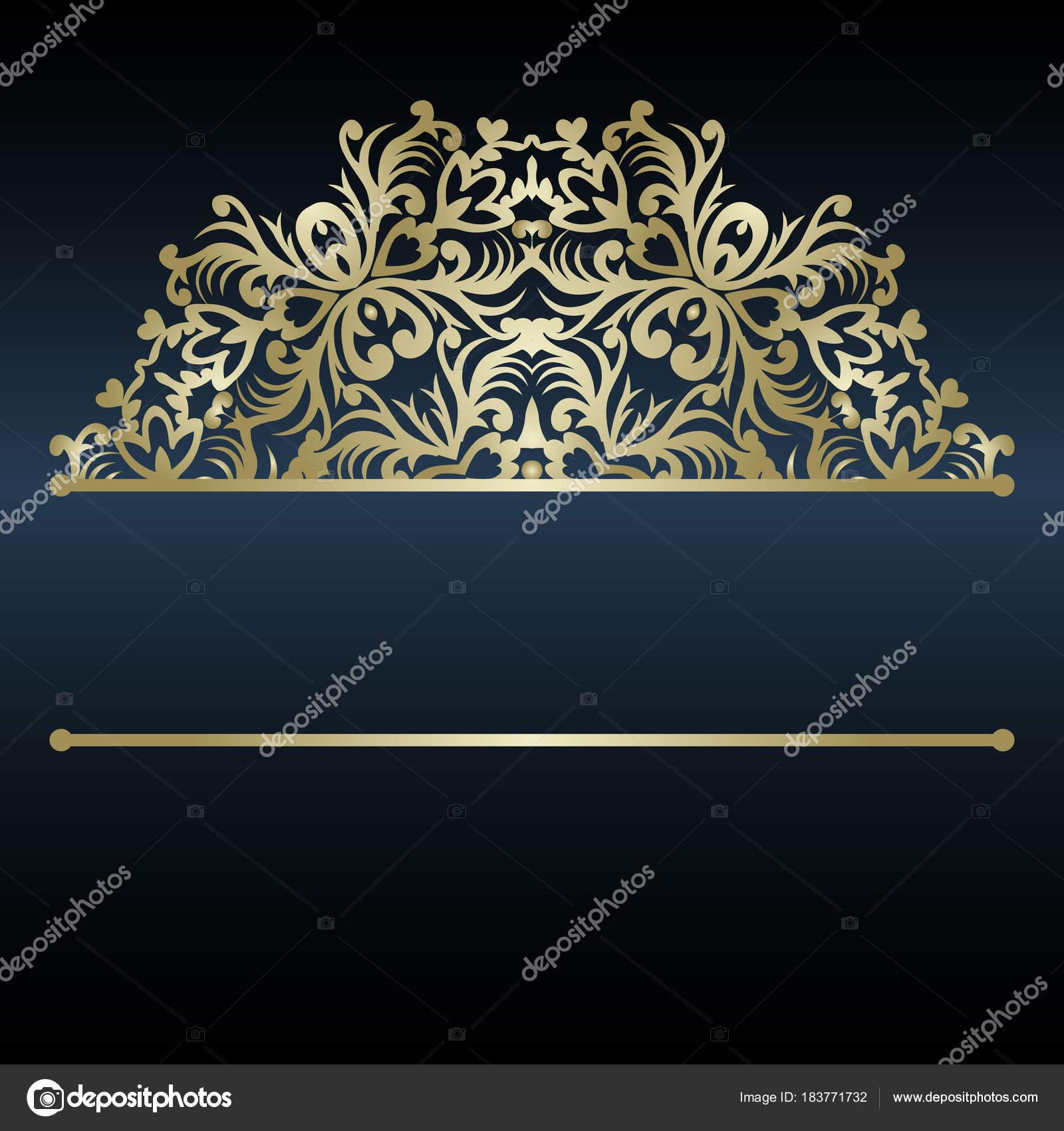 Plantilla de invitación de lujo con mandala decorativo. Adorno de ...