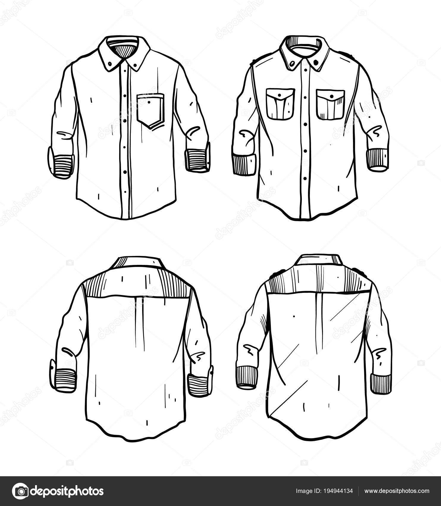 Ilustración de vector de camiseta boceto dibujado a mano — Archivo Imágenes  Vectoriales 6f3df337f203f