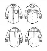 Fotografie Shirt sketch hand drawn vector illustration.
