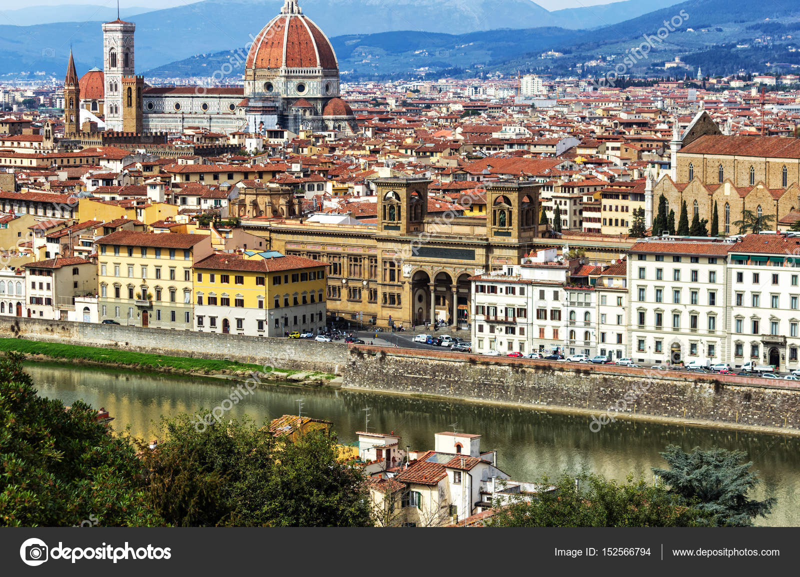 Italian Florence: Panoramic View From The Piazzale Michelangelo In Florence