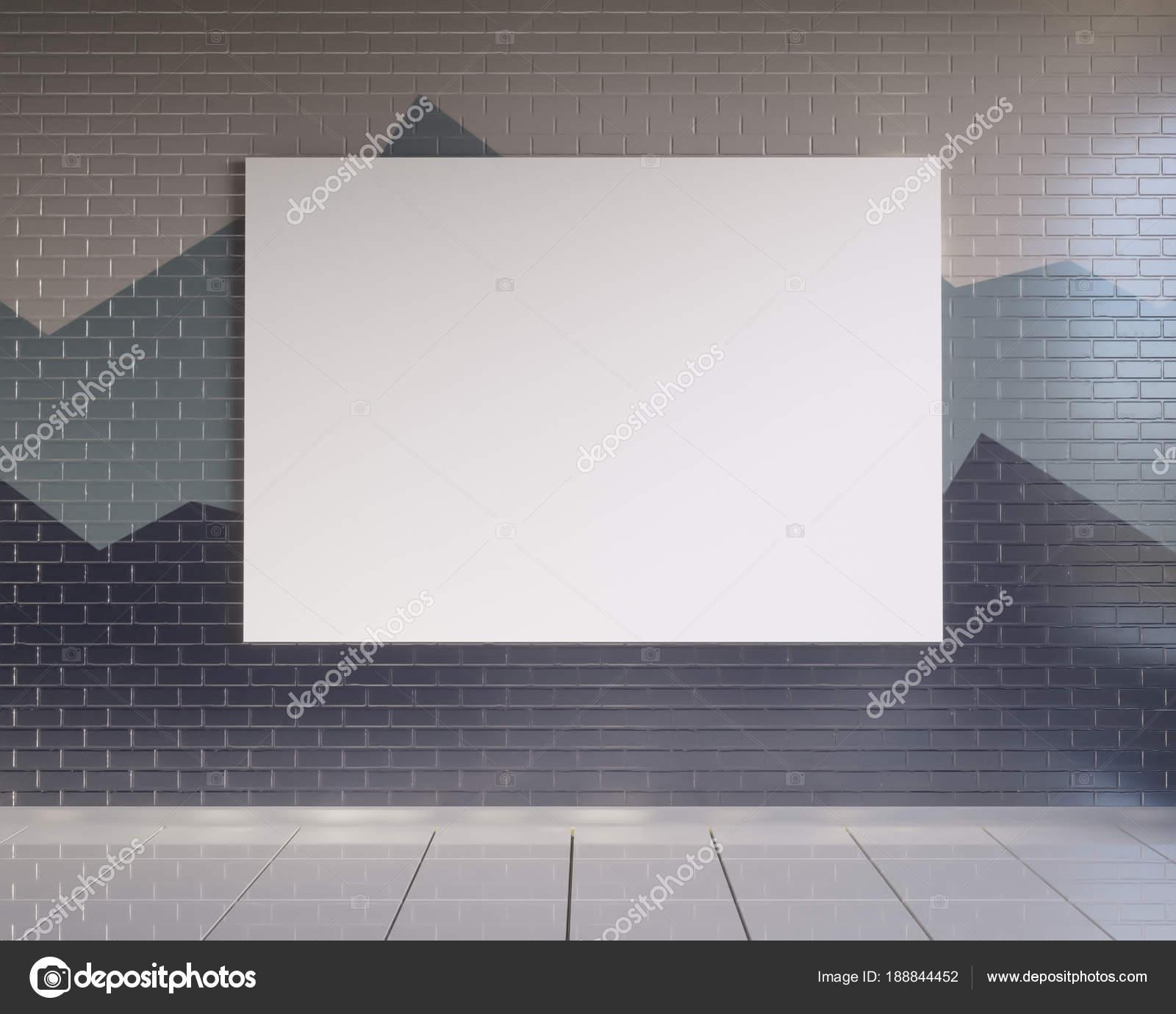 maquette affiche avec fond intérieur de la loft du minimalisme du ...