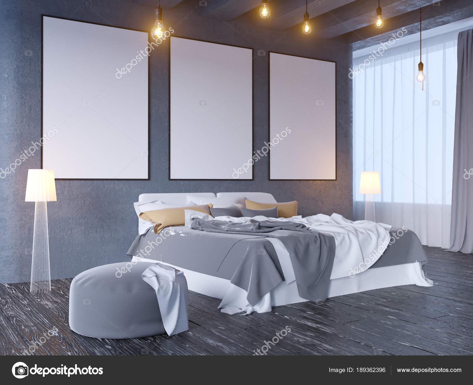 Mock up poster with vintage pastel hipster minimalism loft ...
