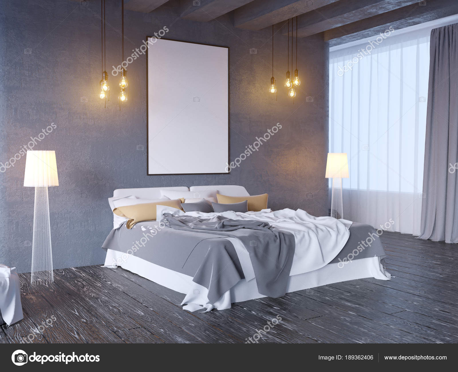 Mock up poster mit vintage pastell hipster minimalismus loft
