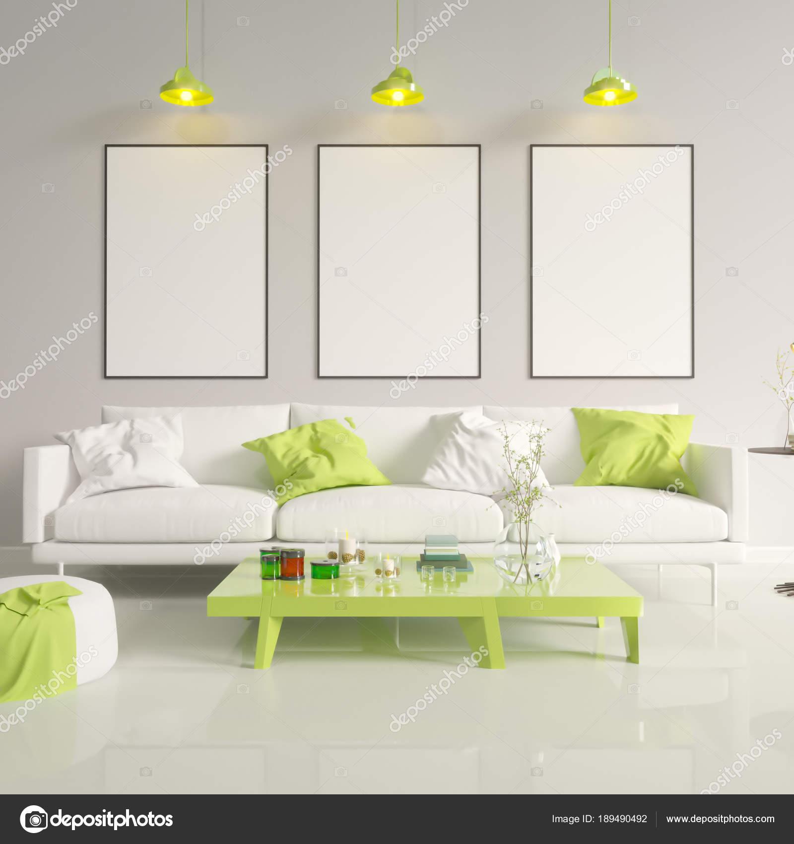 Mock up poster with vintage hipster minimalism loft interior ...