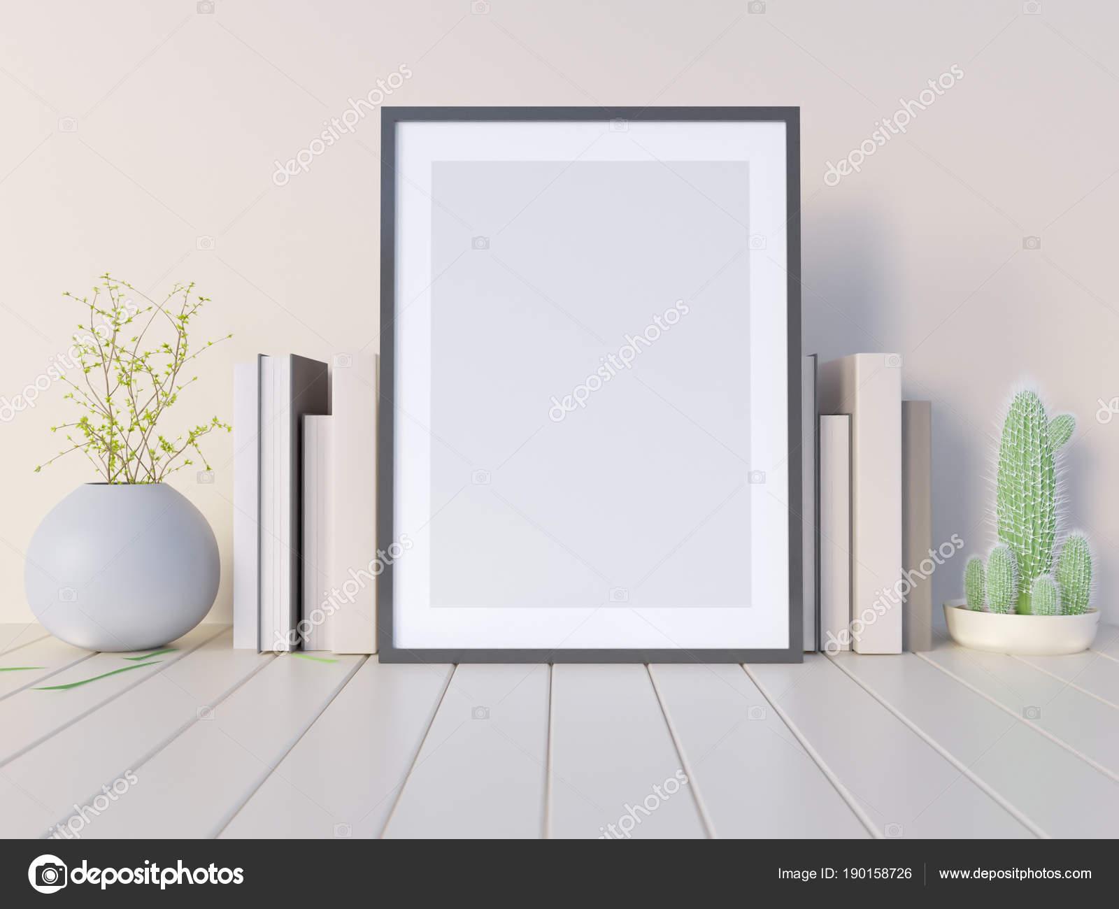 Mock, Hipster Hintergrund, 3d Illustration Poster, Rendern, Rendern ...