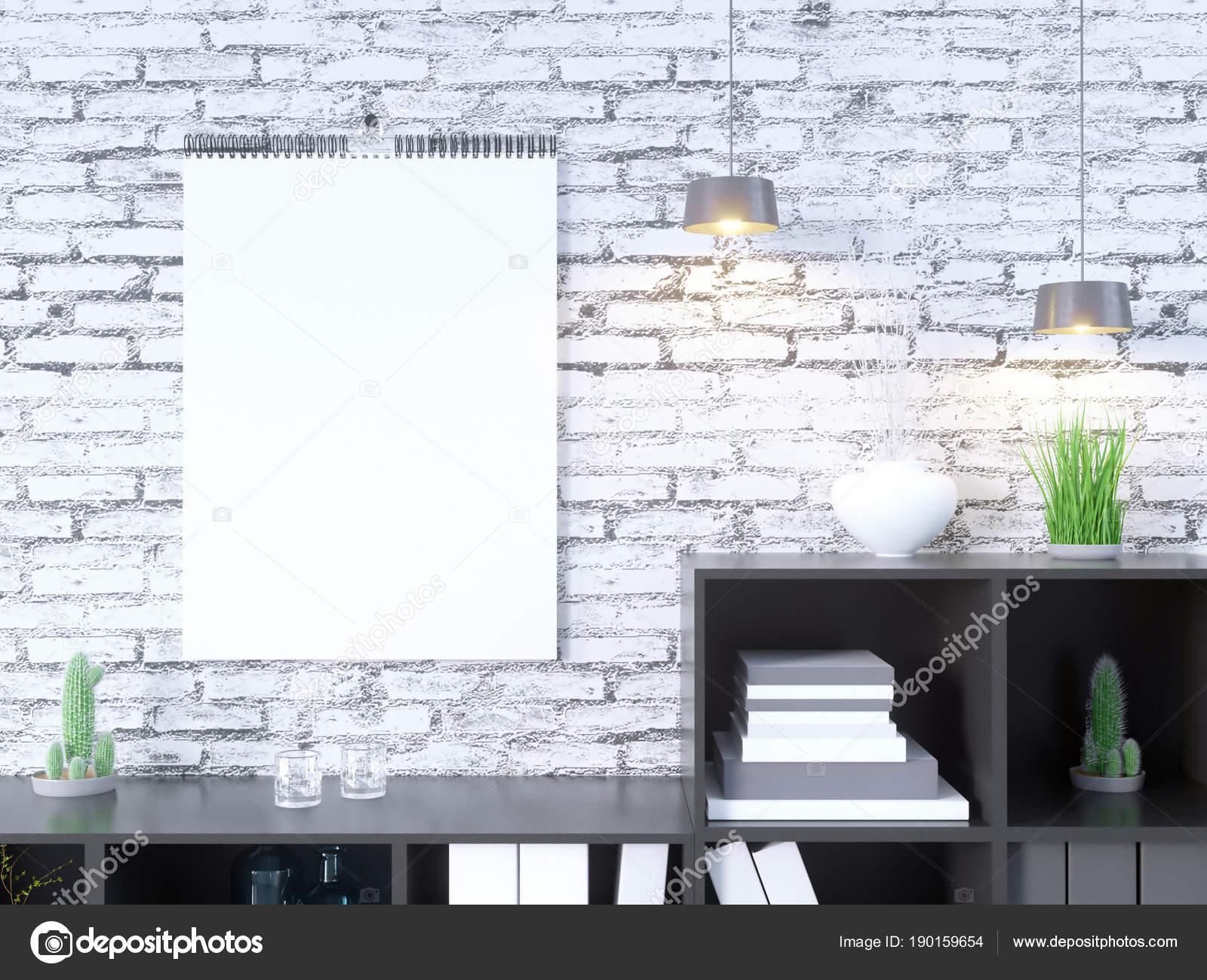 Maqueta del calendario en representación 3d interior, piedra de la ...