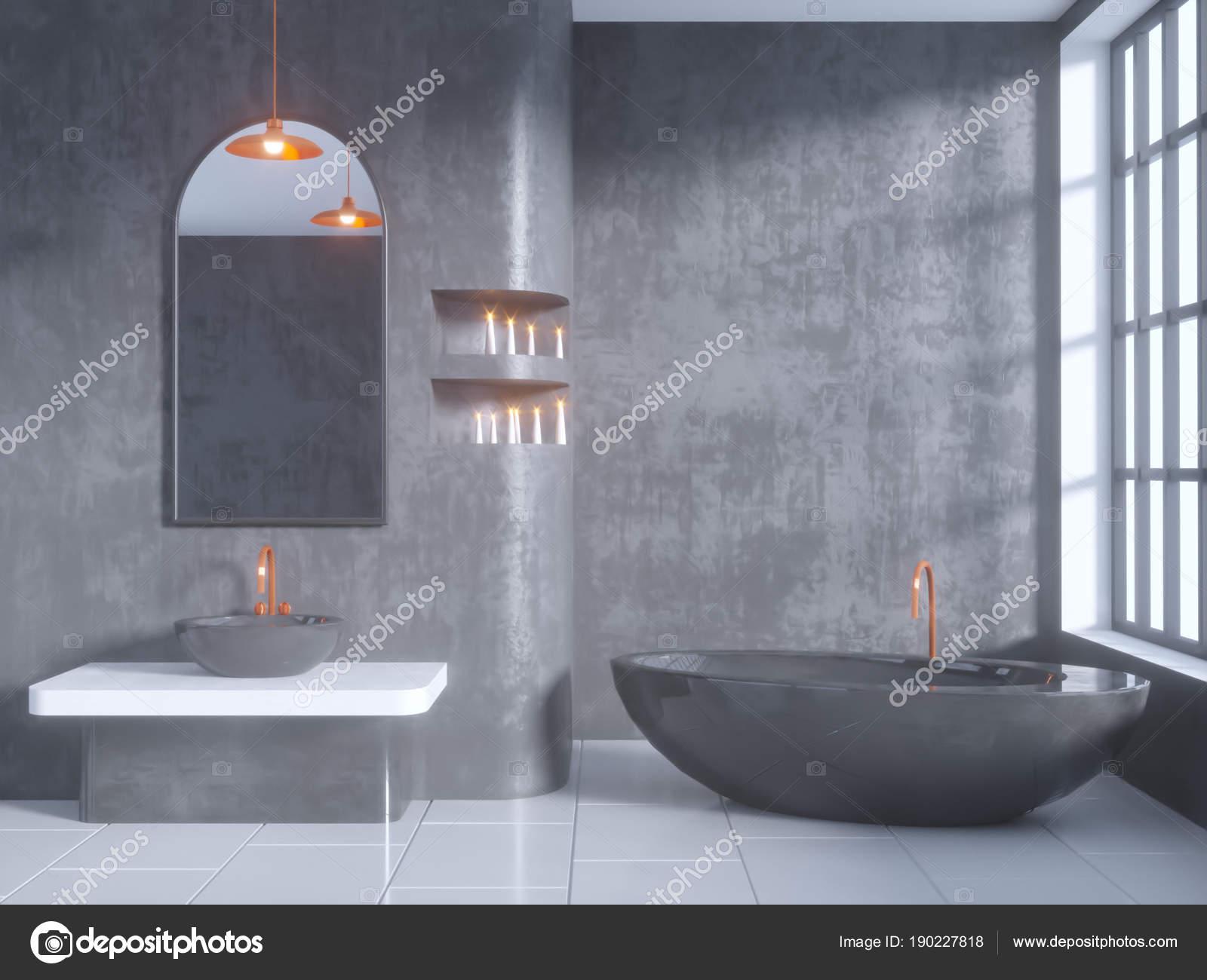 Vasca da bagno in cemento perfect il pavimento in legno nella vasca da bagno il perfetto e un - Bagno in cemento resinato ...